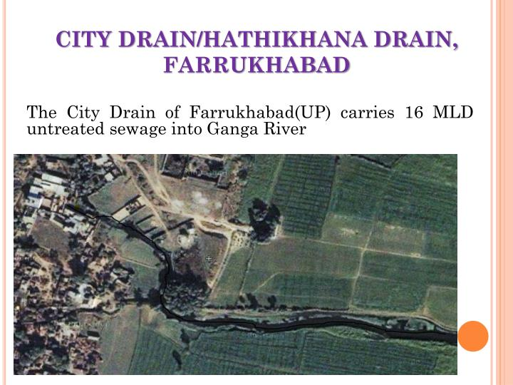 CITY DRAIN/HATHIKHANA DRAIN, FARRUKHABAD