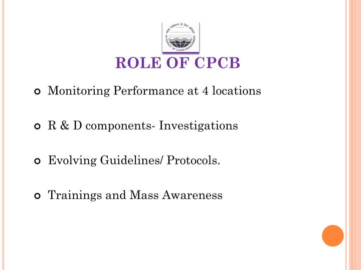 ROLE OF CPCB