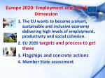 europe 2020 employment and social dimension