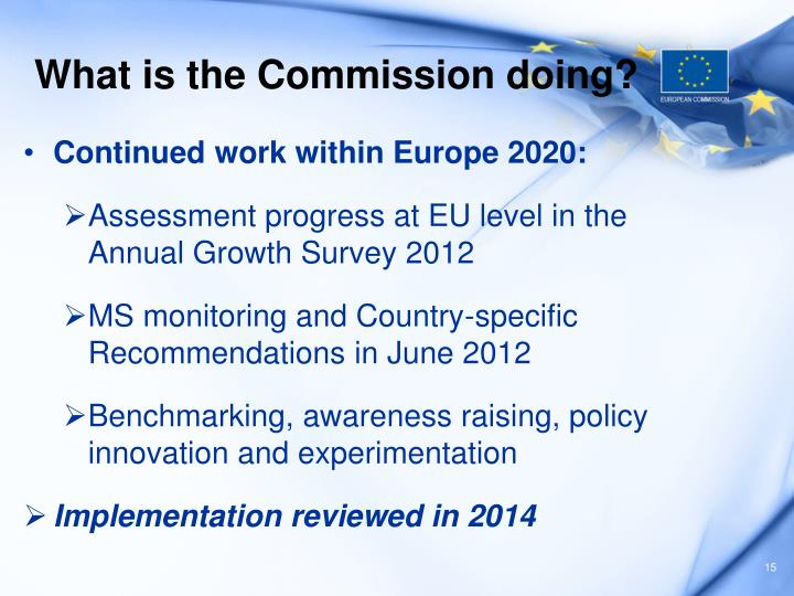 What is the Commission doing?