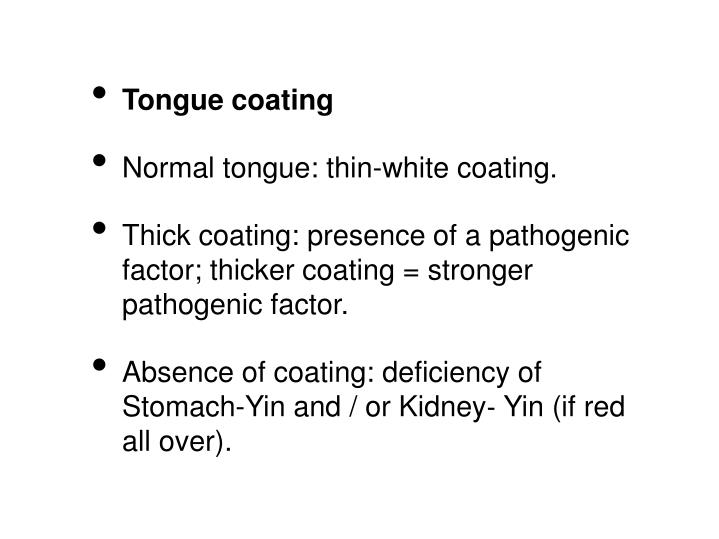 Tongue coating