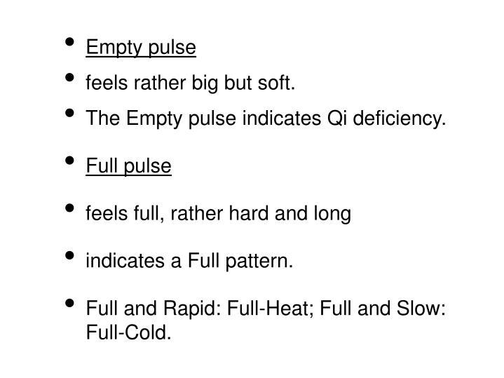 Empty pulse