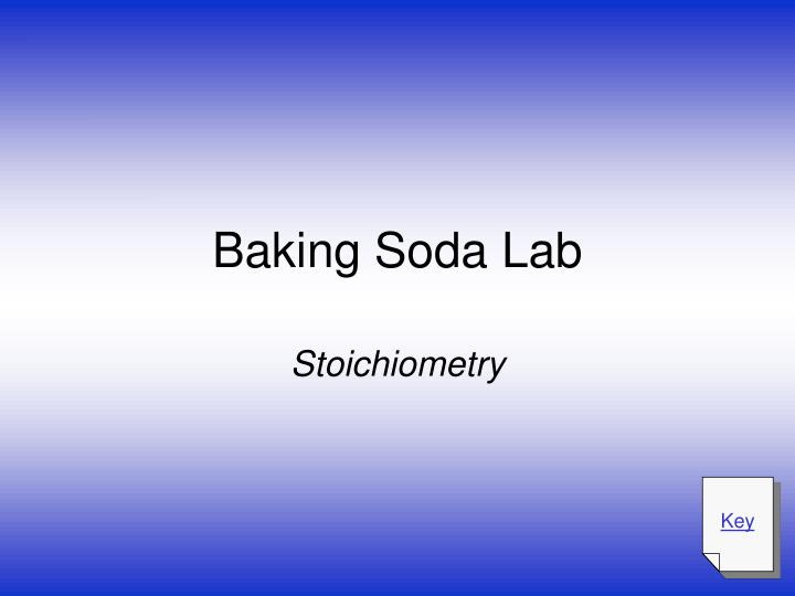 Baking soda lab