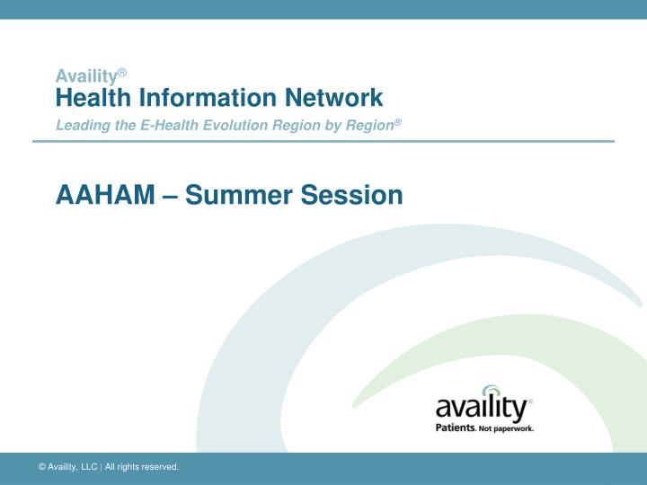 Aaham summer session
