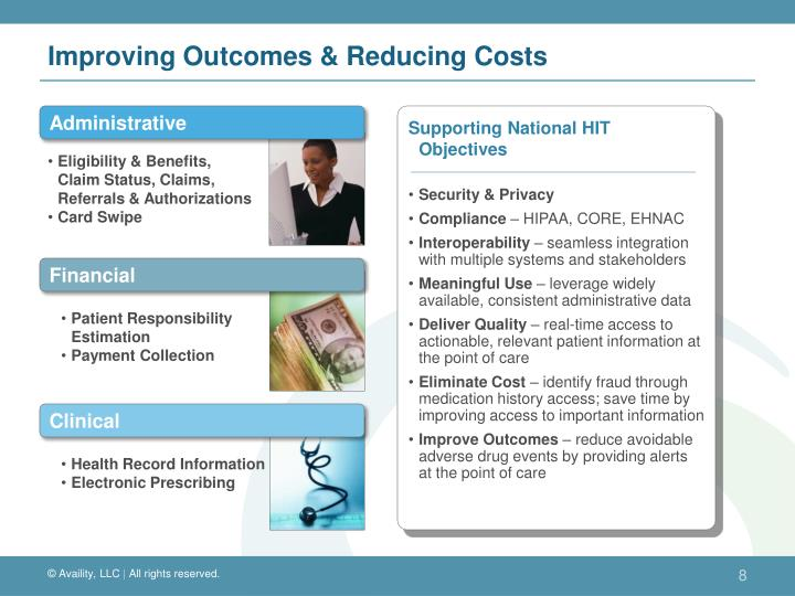 Improving Outcomes & Reducing Costs