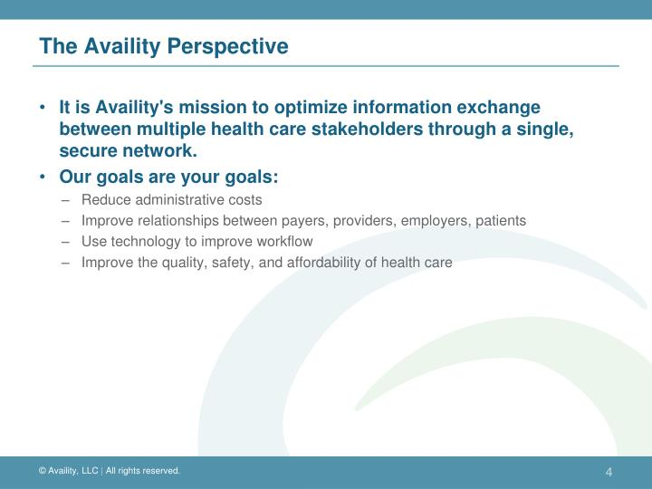 The Availity Perspective