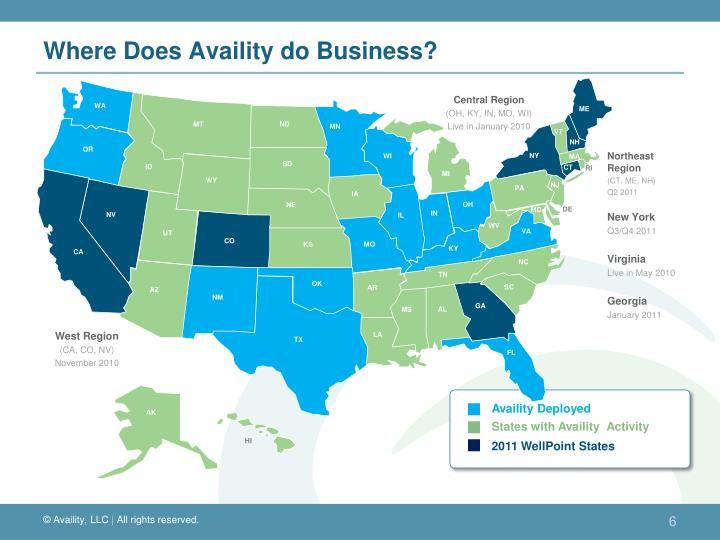 Where Does Availity do Business?