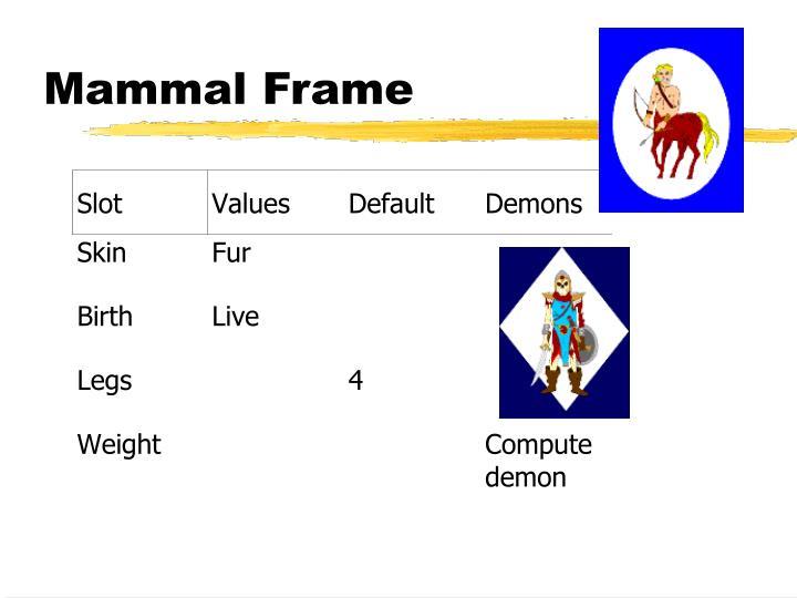 Mammal Frame