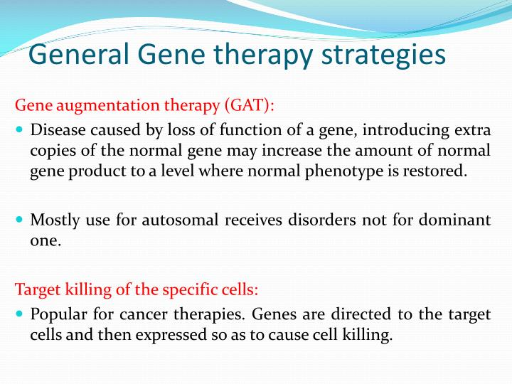 General Gene therapy strategies