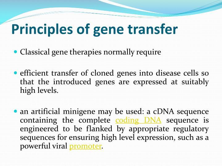 Principles of gene transfer