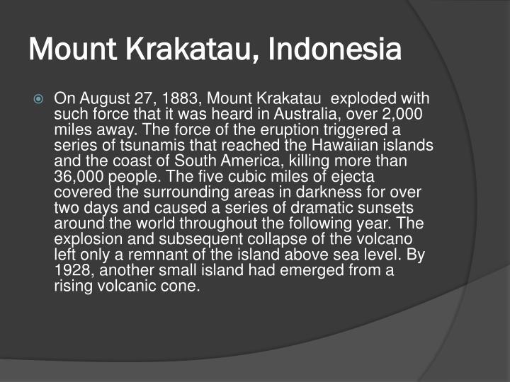 Mount Krakatau, Indonesia