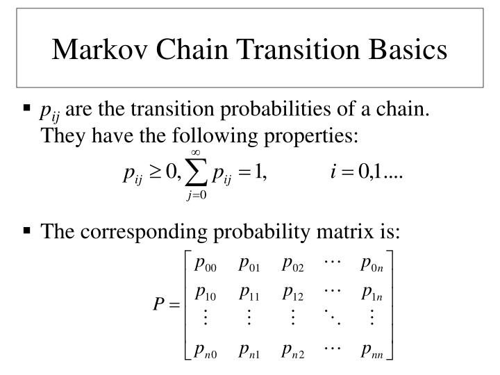 Markov Chain Transition Basics