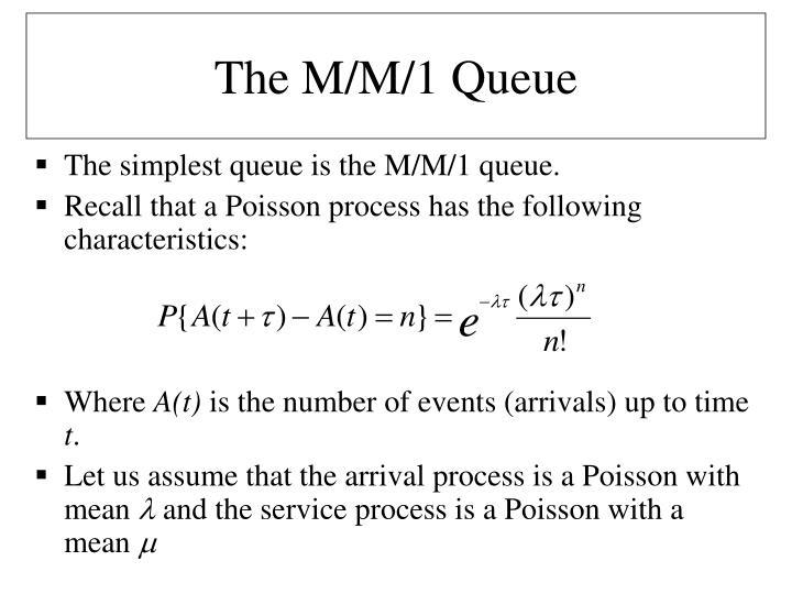 The M/M/1 Queue