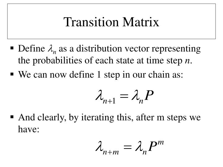 Transition Matrix