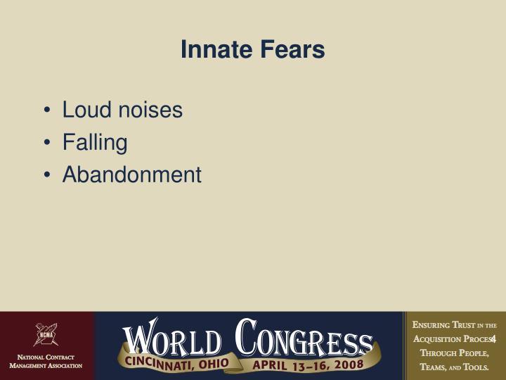 Innate Fears