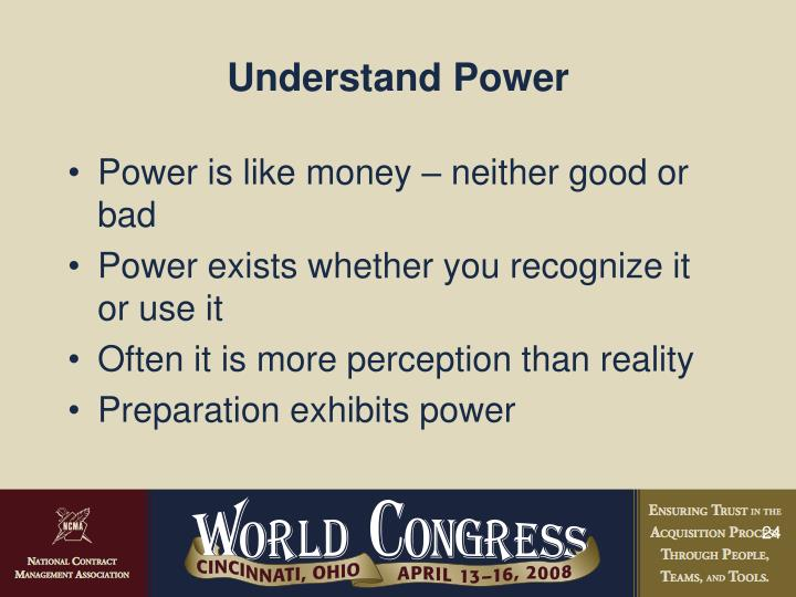 Understand Power