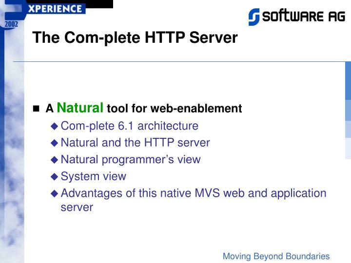 The Com-plete HTTP Server