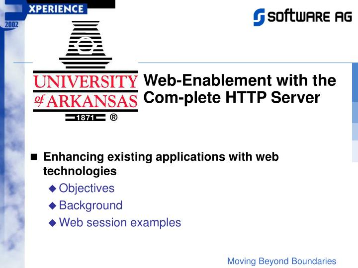 Web-Enablement with the Com-plete HTTP Server