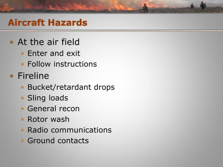 Aircraft Hazards