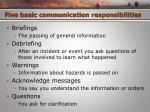 five basic communication responsibilities