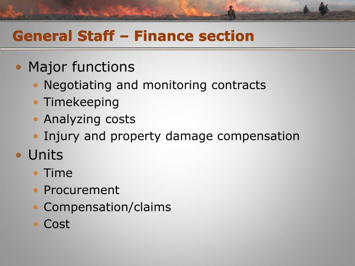 General Staff – Finance section