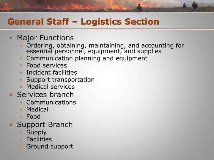 General Staff – Logistics Section