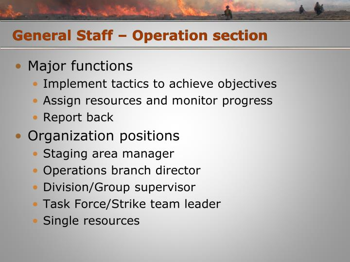 General Staff – Operation section