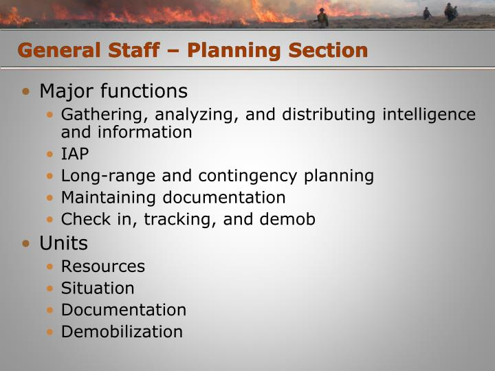 General Staff – Planning Section