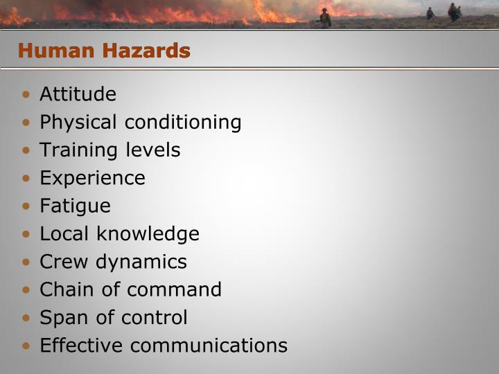 Human Hazards