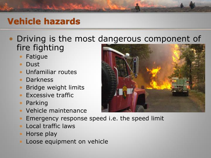 Vehicle hazards