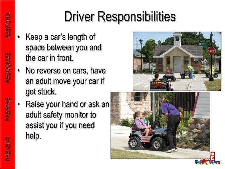 Driver Responsibilities