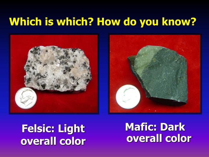 Felsic: Light overall color