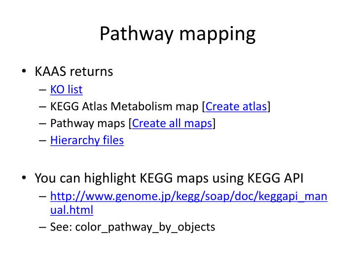 Pathway mapping