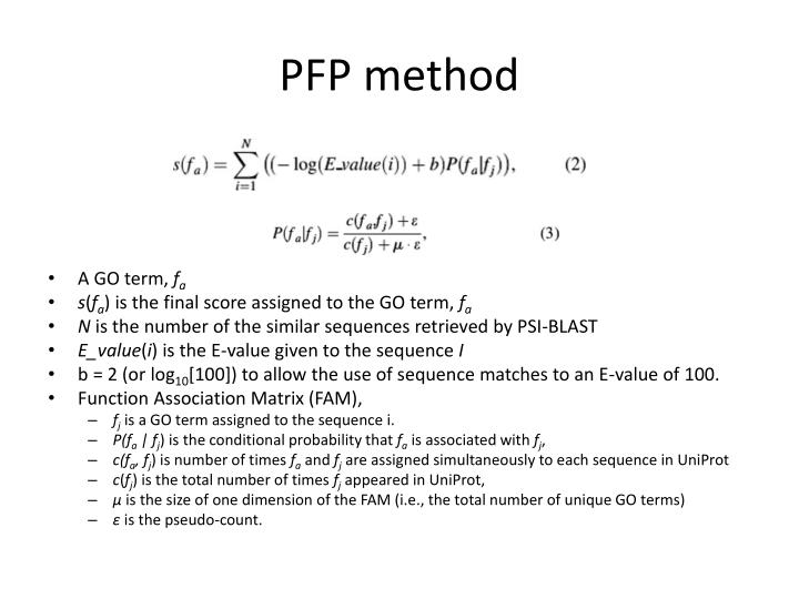 PFP method