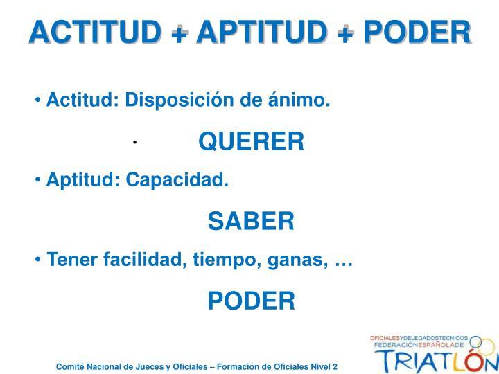ACTITUD + APTITUD + PODER