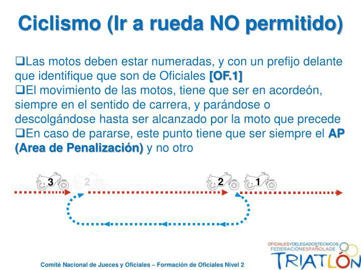Ciclismo (Ir a rueda NO permitido)