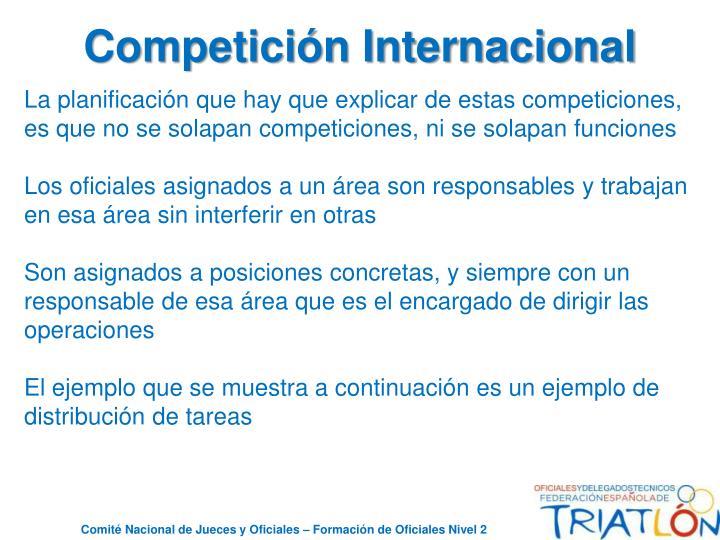 Competición Internacional