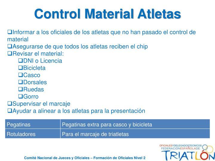 Control Material Atletas