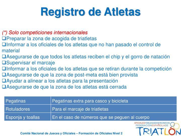 Registro de Atletas