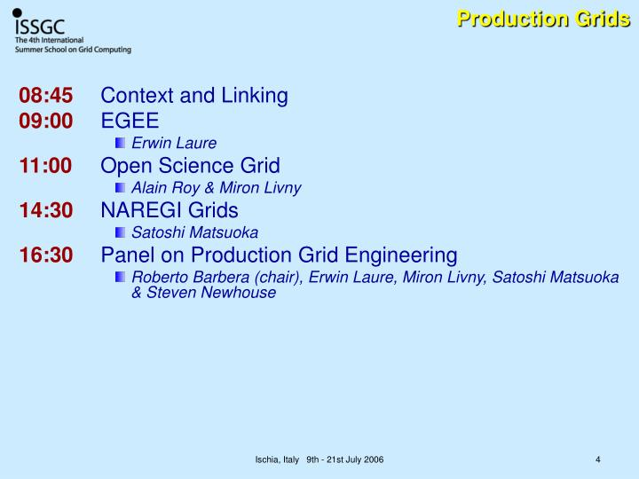 Production Grids