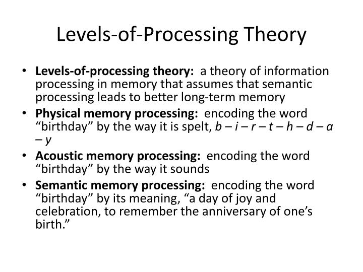 Levels-of-Processing Theory