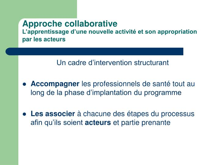 Approche collaborative