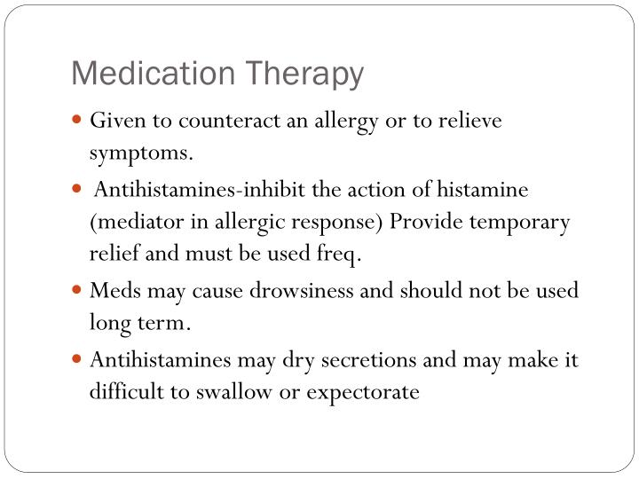 Medication Therapy