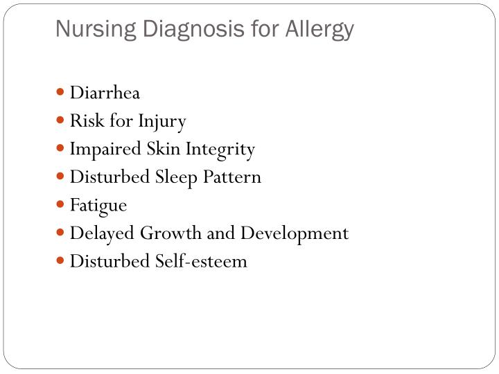 Nursing Diagnosis for Allergy