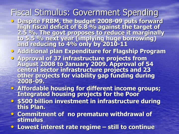Fiscal Stimulus: Government Spending