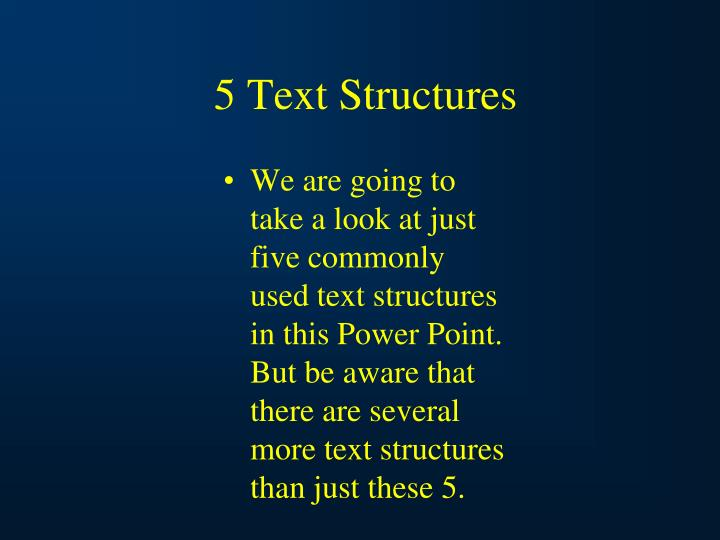 5 Text Structures