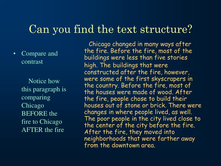Can you find the text structure?