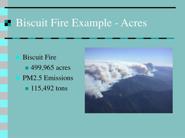 Biscuit Fire Example - Acres