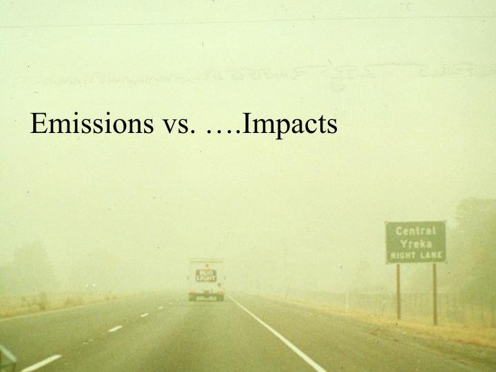 Emissions vs. ….Impacts
