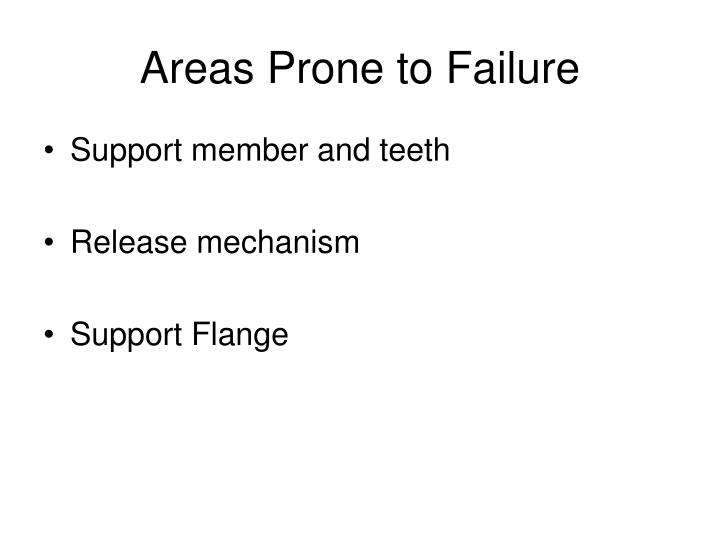 Areas Prone to Failure